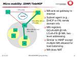 micro mobility idmp telemip