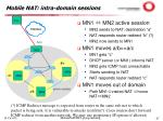 mobile nat intra domain sessions