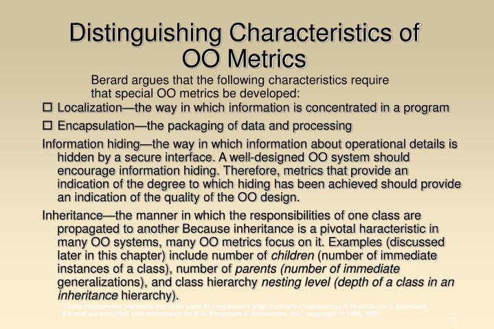 Distinguishing Characteristics of