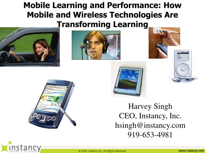 mobile learning and performance how mobile and wireless technologies are transforming learning n.