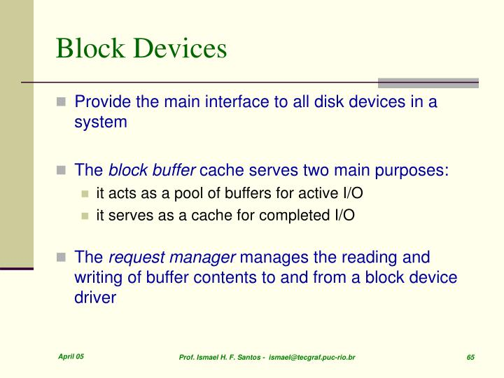 Block Devices