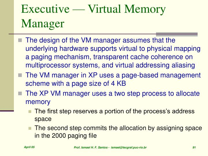 Executive — Virtual Memory Manager