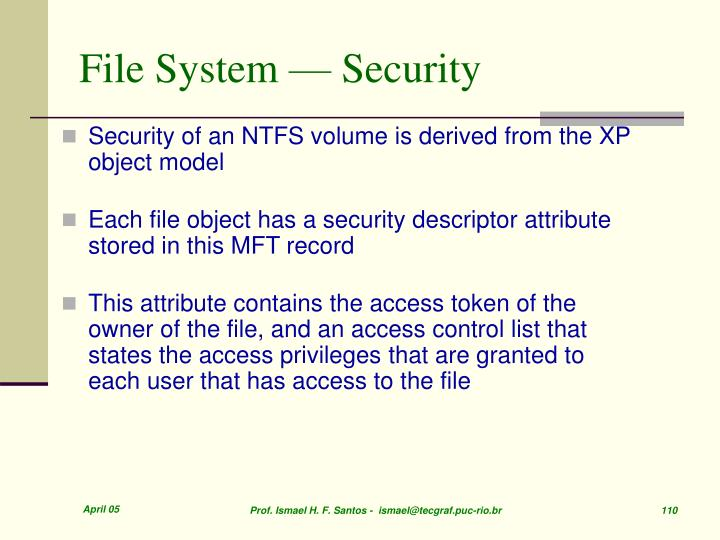 File System — Security