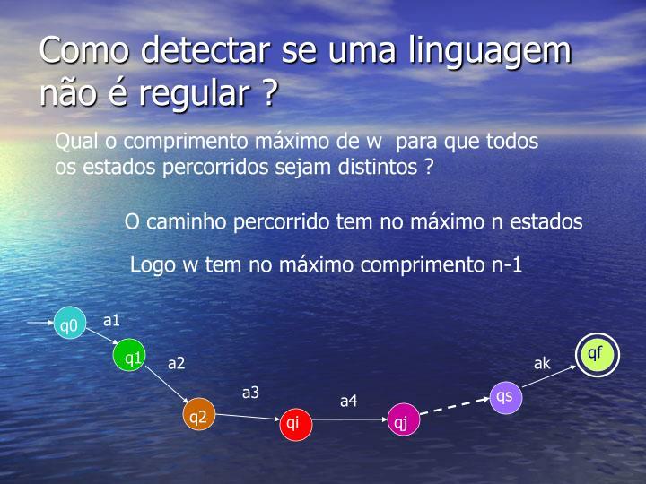 Como detectar se uma linguagem n o regular1