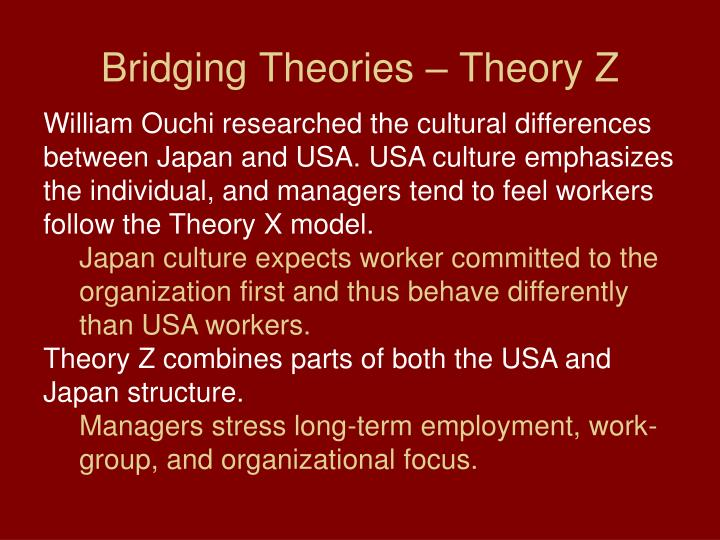 Bridging Theories – Theory Z