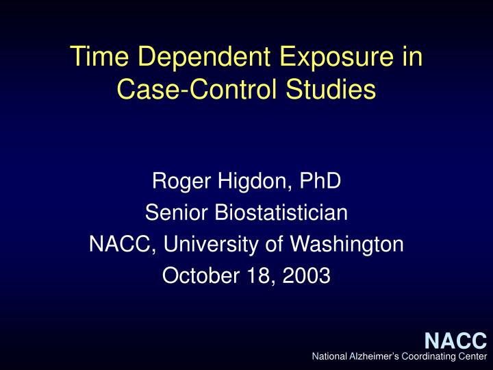 biases in case-control studies ppt Bias & confounding mtevfik dorak bias and confounding lecture (ppt) introduction in epidemiologic research in case-control studies, selection bias.
