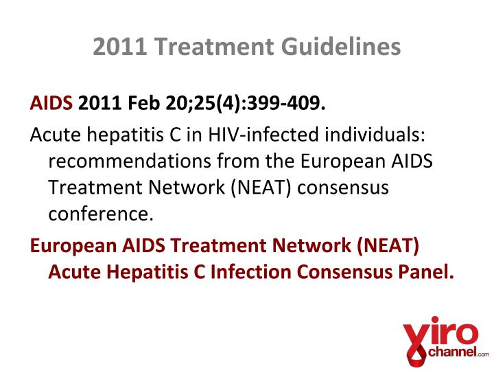 2011 Treatment Guidelines