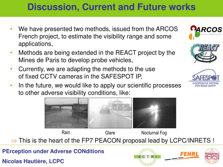 We have presented two methods, issued from the ARCOS