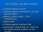 civil rights and war protest