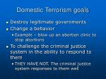 domestic terrorism goals