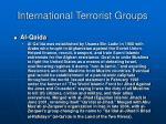 international terrorist groups