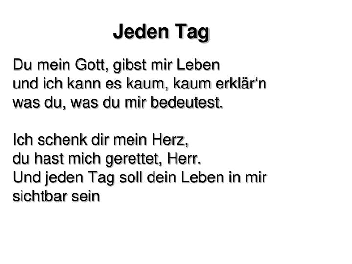 jeden tag n.