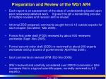 preparation and review of the wg1 ar4