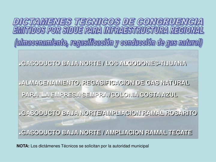 DICTAMENES TECNICOS DE CONGRUENCIA