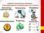 reading comprehension strategies estrategias para la comprehensi n en la lectura