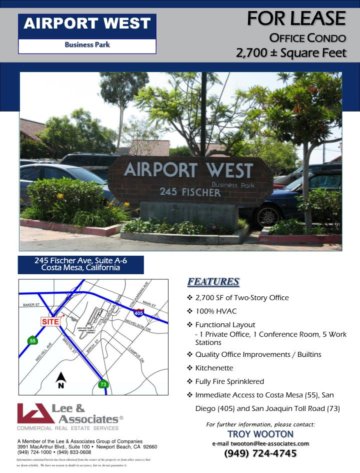 AIRPORT WEST