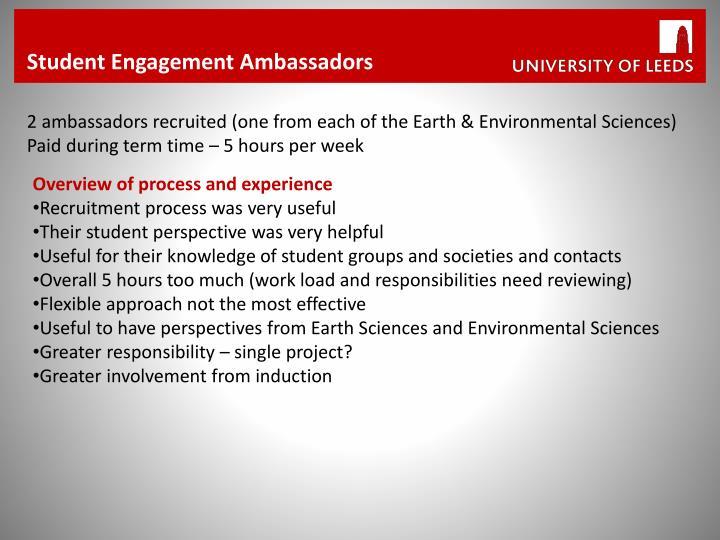 Student Engagement Ambassadors