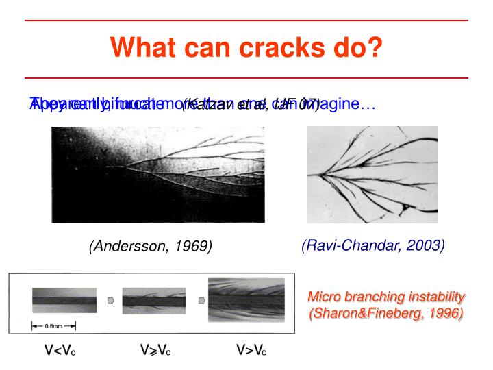 What can cracks do?