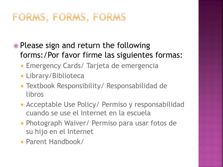 Forms, Forms, Forms
