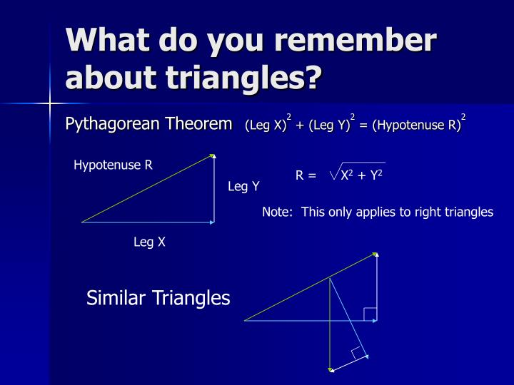 What do you remember about triangles?