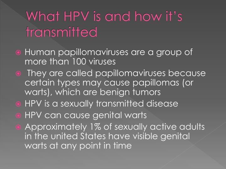 What hpv is and how it s transmitted