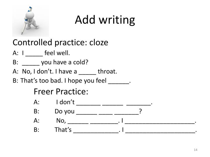 Add writing