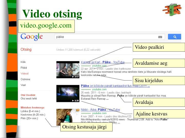 Video otsing