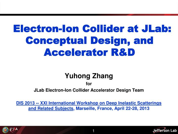 electron ion collider at jlab conceptual design and accelerator r d n.