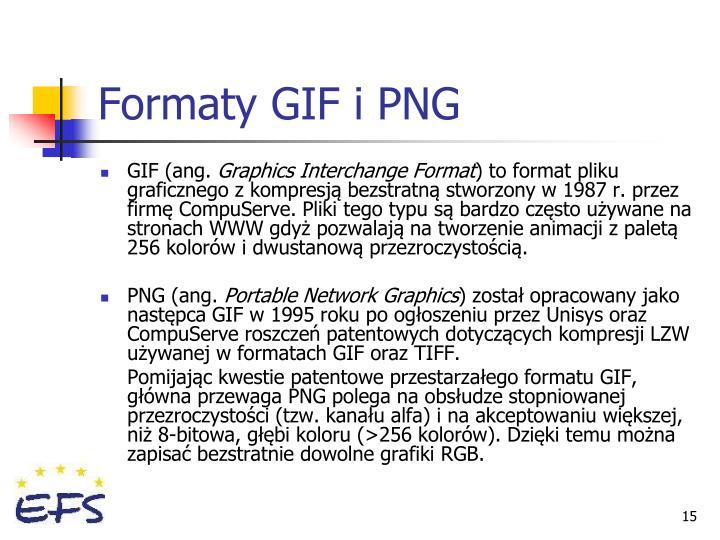 Formaty GIF i PNG