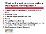 what topics and trends should our board s be learning about