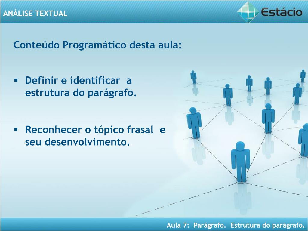 PPT - ANÁLISE TEXTUAL PowerPoint Presentation - ID:4190856