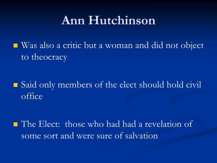 Ann Hutchinson