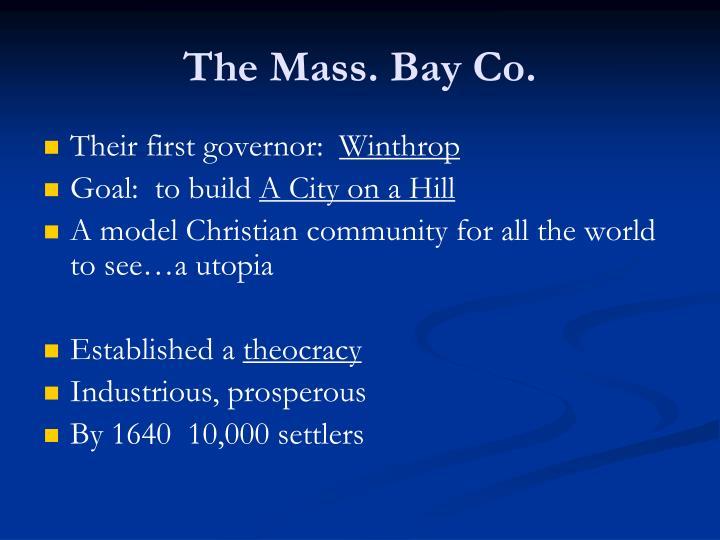 The Mass. Bay Co.