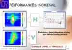 performances nominal
