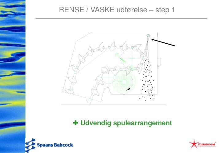 RENSE / VASKE udførelse – step 1