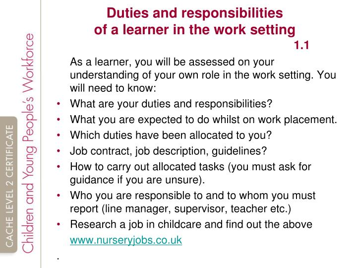 principles of personal responsibilities Unit 1: principles of personal responsibilities and working in a business environment ba029578 – specification – edexcel btec levels 2 and 3 award/certificate.