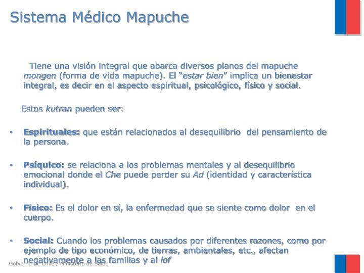 Sistema m dico mapuche