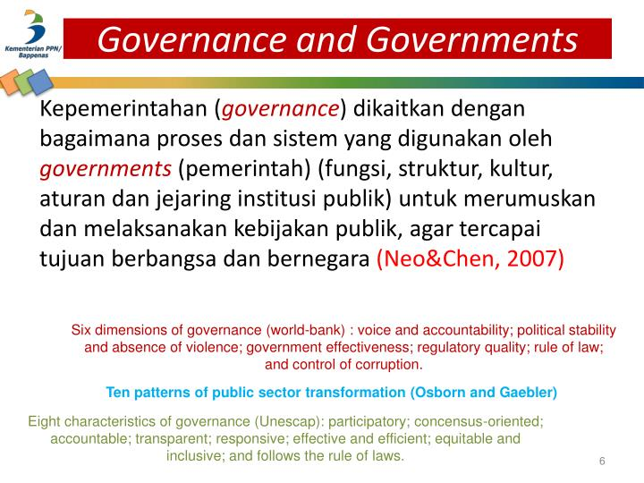 Governance and Governments