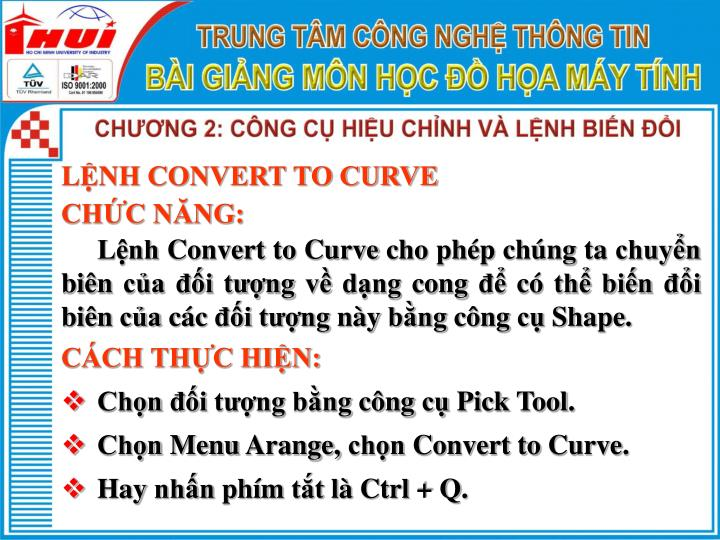 LỆNH CONVERT TO CURVE