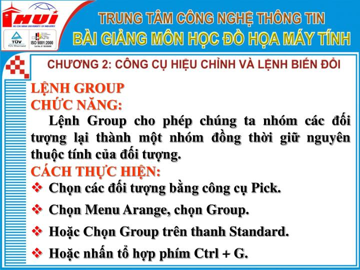 LỆNH GROUP