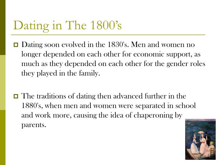 Courtship and dating in the 1800s