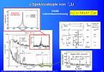 g spektroskopie von 7 l li