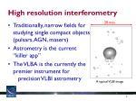 high resolution interferometry