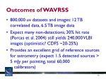 outcomes of wavrss