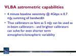 vlba astrometric capabilities
