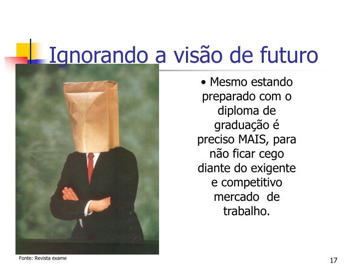 Ignorando a visão de futuro