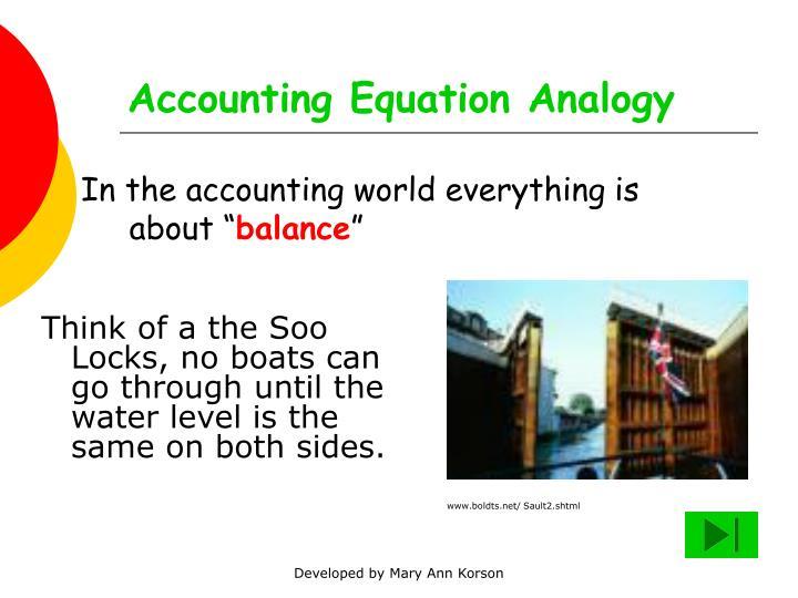 Accounting Equation Analogy