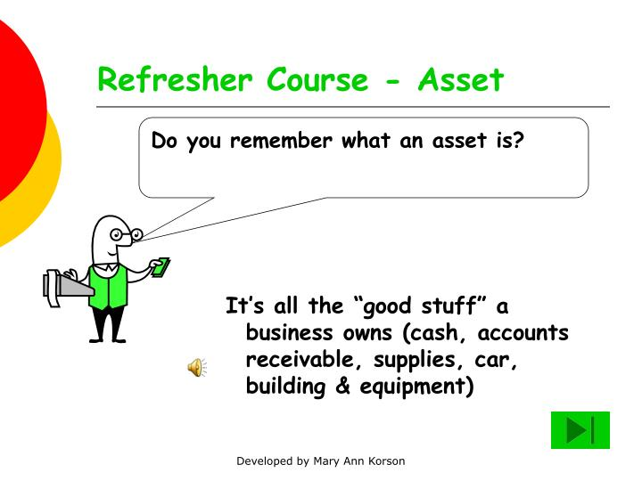 Refresher course asset
