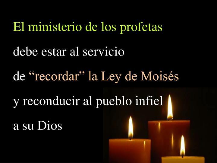 El ministerio de los profetas