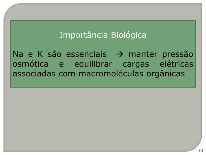 Importância Biológica